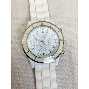 Unisex American eagle white rubber band watch